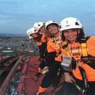 Brave volunteers climbed the UK's highest rollercoaster in aid of The Fed.