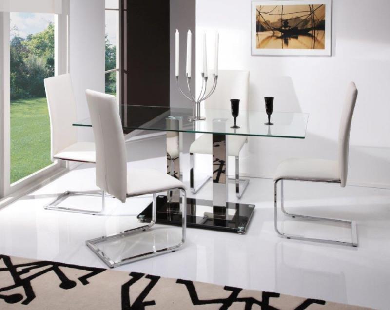 Glaze-Large-Black-Dining-Table-Vetro-Chairs-White