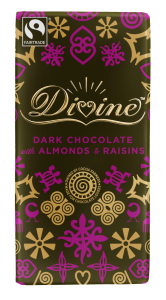 Divine 100g Dark Choc Almond & Raisin