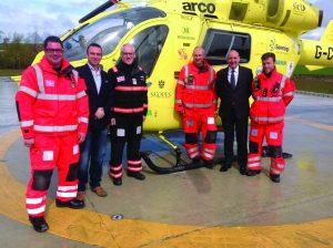 Simon Cope, Paul Gowland and Bob Siswick with the medics