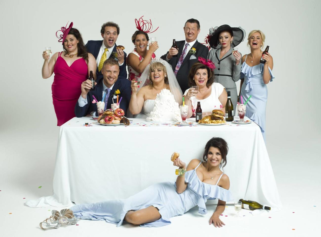 Full Company of Kay Mellor's Fat Friends the Musical.