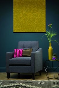 Hepburn slate fabric armchair (£199.99)