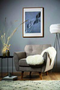 Harlow oatmeal fabric armchair (£299.99)