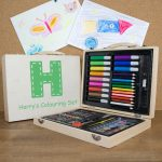 Personalised childrens's colouring-in set