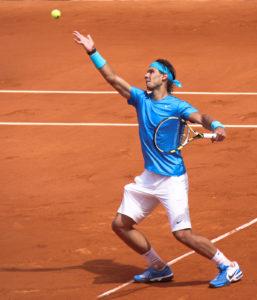 Mallorca-native Rafa Nadal playing Tennis