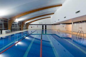 Interior of the pool at David Lloyd Manchester North