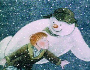 A still from The Snowman, which will be screened in The Bridgewater Hall in Manchester this festive period