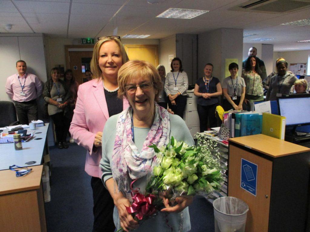 Barbara Cline celebrating 40 years of service to LJWB
