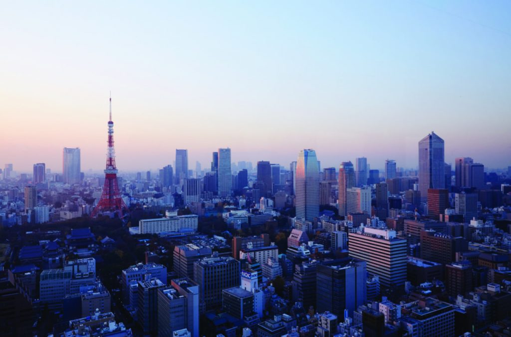 Skyline of Tokyo, Japan, one of JLife's top travel trends for 2020