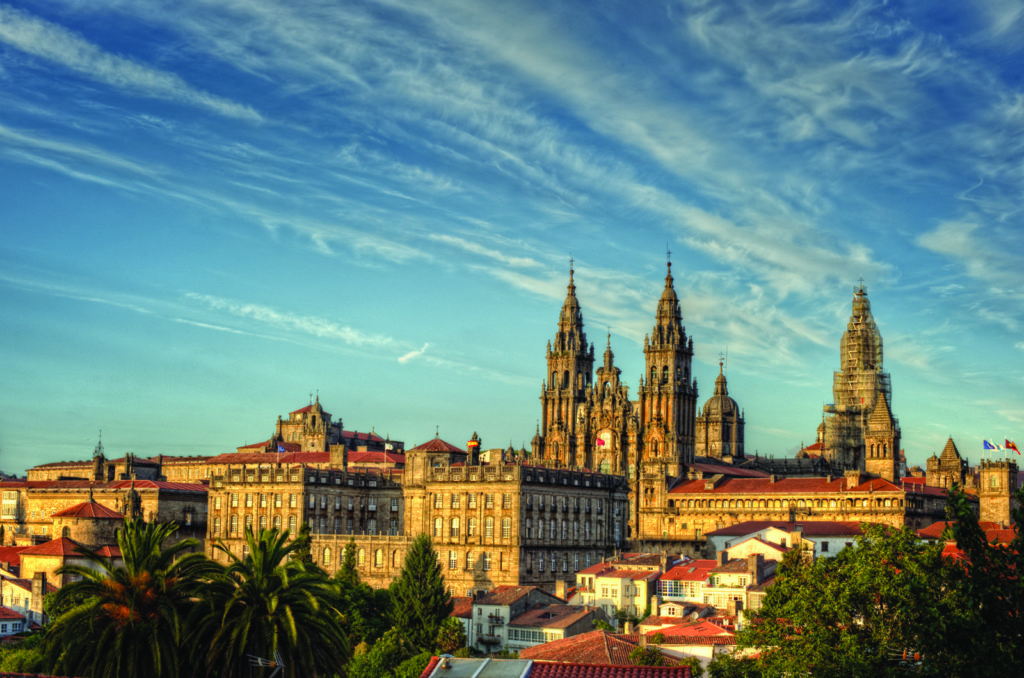 View of the cathedral of Santiago de Compostela, Galicia, Spain - one of JLife's top travel trends in the new year