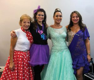 Some contestants of Dancing Strictly pose for a photo