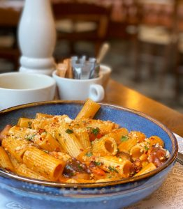 A pasta dish from Salvi's restaurant in Manchester