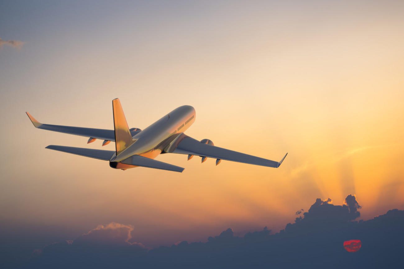 Passengers on plane following travel trends as tey fly to their destination