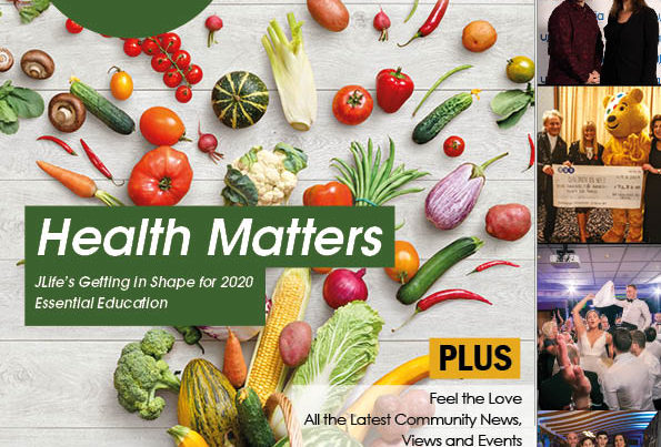 Front cover of the January-February edition of JLife Magazine Manchester 2020